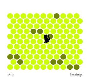 围小猫游戏代码  玩法:点击小圆点,将小猫圈住!-微尘博客